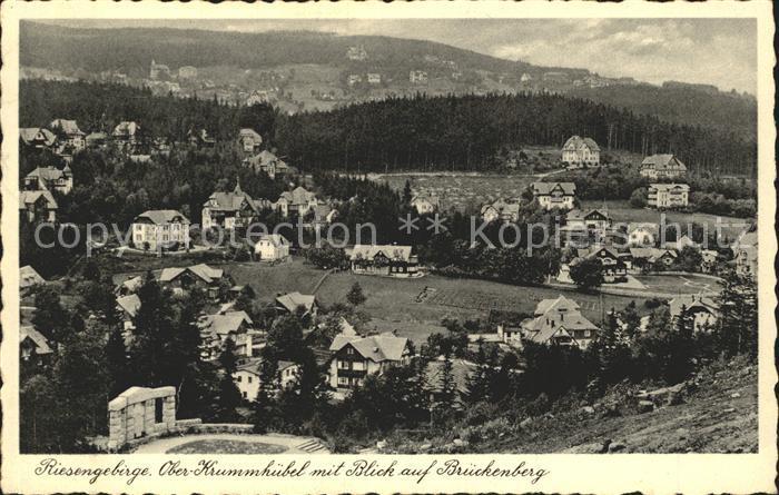 Ober Krummhuebel mit Blick auf Brueckenberg / Krummhuebel /