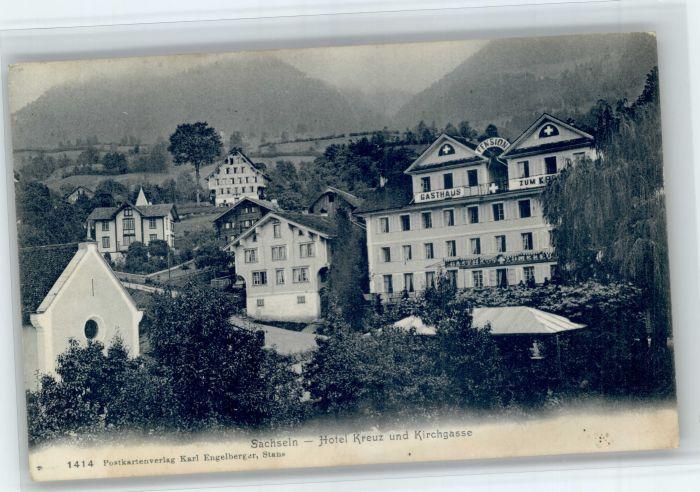 Sachseln OW Sachseln Hotel Kreuz Kirchgasse x / Sachseln /Bz. Obwalden