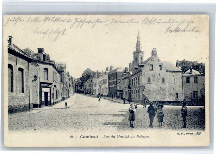 Cambrai Cambrai Rue Marche Poisson x / Cambrai /Arrond. de Cambrai