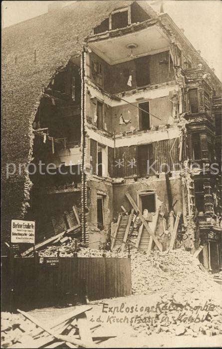 Moabit Berlin Explodiertes Haus / Berlin /Berlin Stadtkreis