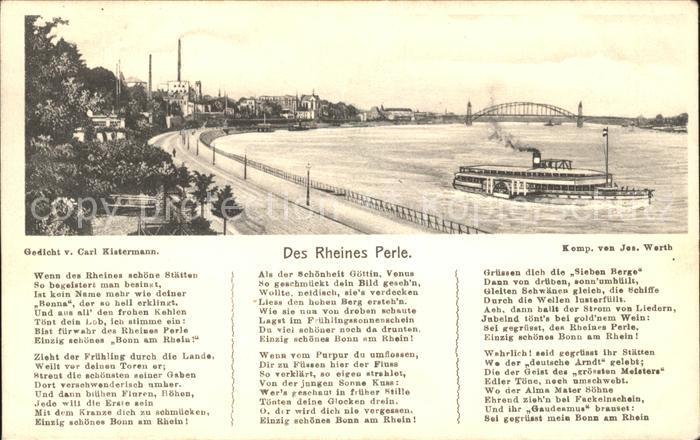 Bonn Rhein Des Rheines Perle Gedicht  / Bonn /Bonn Stadtkreis