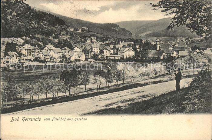 Herrenalb Loeffenau Schwarzwald von Friedhof aus gesehen / March /Breisgau-Hochschwarzwald LKR