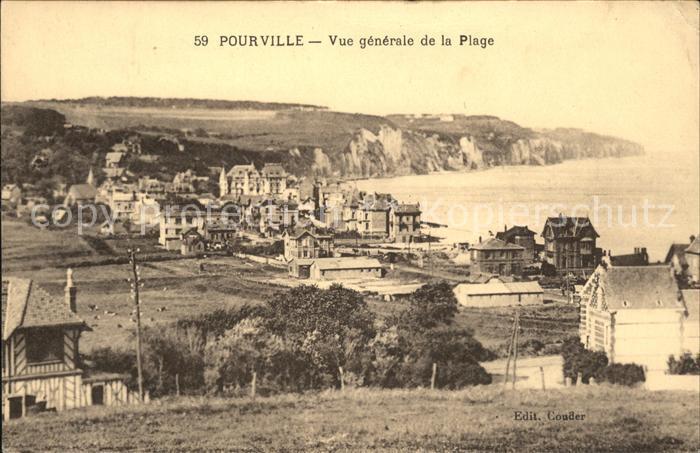 Pourville sur Mer Vue generale de la Plage / Dieppe Seine-Maritime /Arrond. de Dieppe