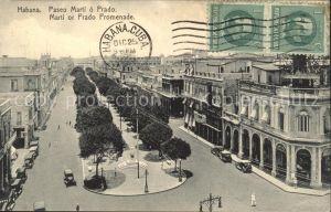 Habana Havana Paseo Marti o Prado Stempel auf AK / Havana /