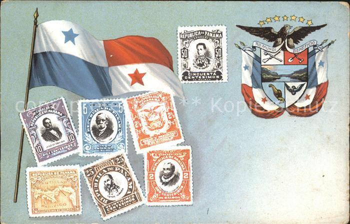 Panama Landesflagge Briefmarken Wappen / Panama /