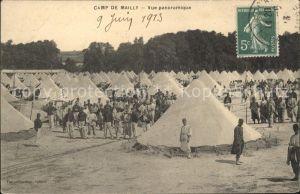 Camp de Mailly Vue generale Militaire Stempel auf AK / Mailly-le-Camp /Arrond. de Troyes