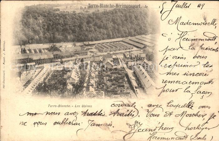 Terre Blanche Les Usines / Herimoncourt /Arrond. de Montbeliard