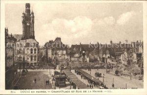 Douai Nord en Ruines Grand Place Rue de la Mairie Grande Guerre 1. Weltkrieg / Douai /Arrond. de Douai