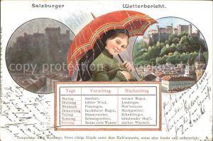 Salzburg Oesterreich Wetterbericht Frau mit Schirm / Salzburg /Salzburg und Umgebung