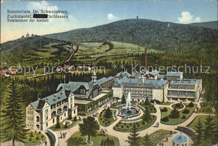 Zuckmantel Zlate Hory Sanatorium Dr. Schweinburg / Tschechische Republik /