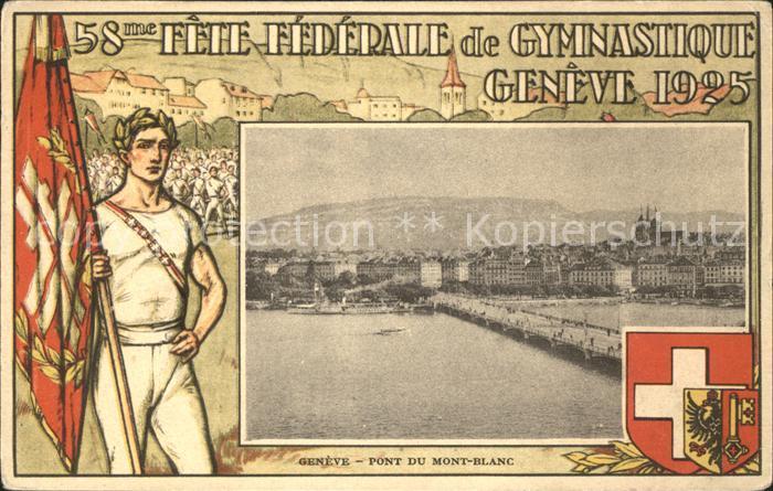 Geneve GE 58 Fete Federale de Gymnastique / Geneve /Bz. Geneve City