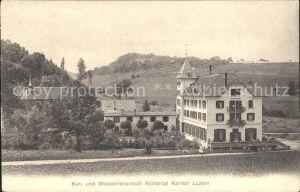 Luzern LU Kur- und Wasserheilanstalt Richental / Luzern /Bz. Luzern City