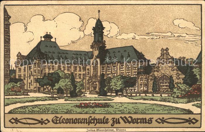 Worms Rhein Elenorenschule / Worms /Worms Stadtkreis