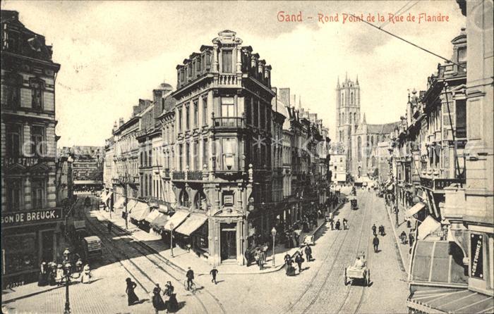 Gand Belgien Rond Point de la Rue de Flandre / Gent Flandern /