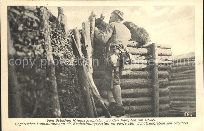 Kowel Ukraine Ungarischer Landsturmmann Schuetzengraben Stochod / Ukraine /