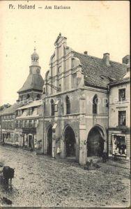 Preussisch Holland Rathaus Bartholomaeuskirche  / Polen /