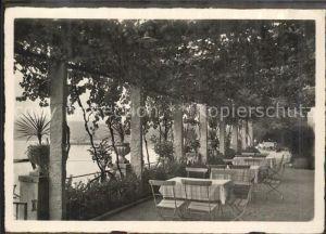 Cassarate Lugano TI Weinlauben Terrasse des Strandhotel Seegarten / Lugano /Bz. Lugano City