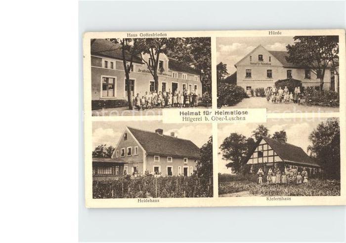 Hilgerei Oberleschen Haus Gottesfrieden Huerde Heidehaus Kiefernhaus / Szprotawa /