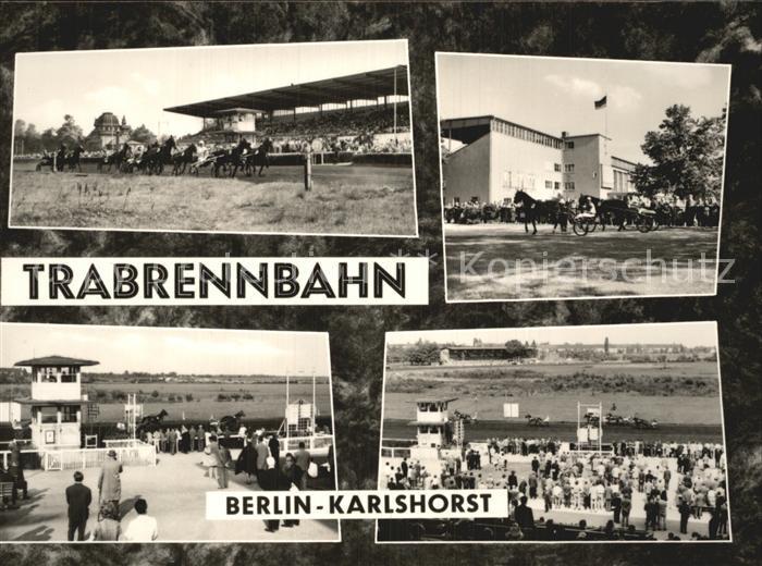 Karlshorst Lichtenberg Trabrennbahn Teilansichten Kat. Lichtenberg Berlin