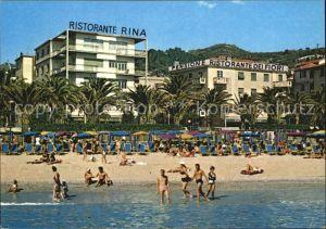 Finale Ligure Ristorante Dei Fiori und Ristorante Rina Strandpartie