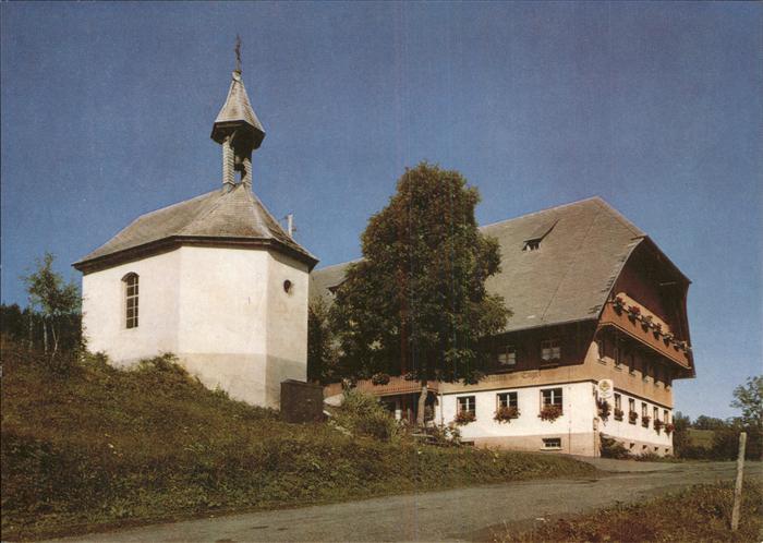 61791696 Alpersbach Gasthaus Pension Zum Engel Kapelle Gasthaus Pension Zum Engel Kapelle Alte Ansichtskarte Postkarte