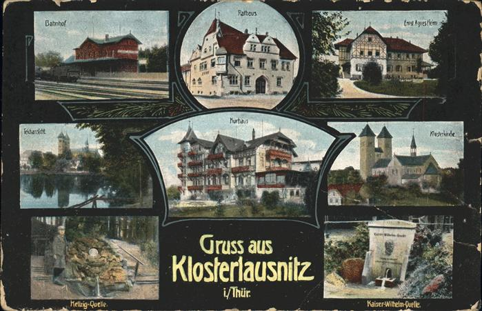 Klosterlausnitz Bahnhof u.Kaiser Wilhelm Quelle