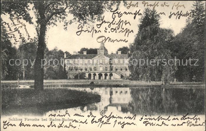 Baden Baden Schloss Favorite  Kat. Baden Baden
