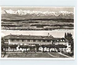Leubringen Biel Hotel Pension Drei Tannen Hotel des Trois Sapins Alpenpanorama Kat. Biel