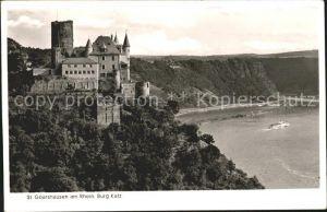 Burg Katz St. Goarshausen Rhein Kat. Sankt Goarshausen