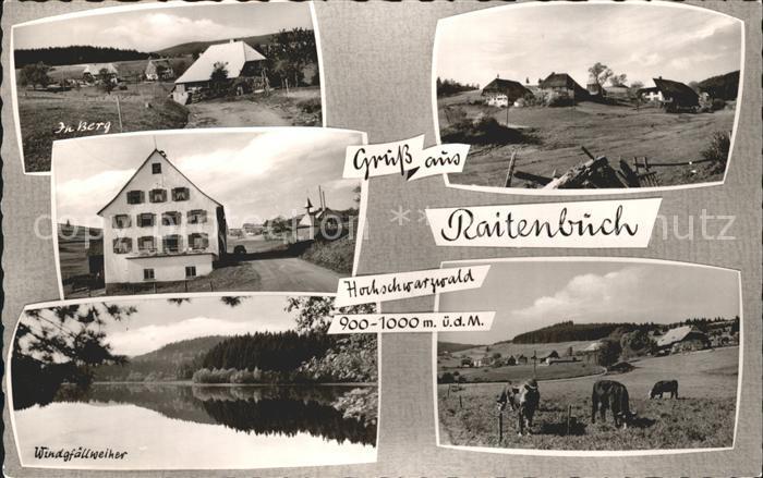 Raitenbuch Lenzkirch Windgfaellweiher Berge Kat. Lenzkirch