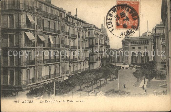 Alger Algerien La Rue d`Isly et la Poste / Algier Algerien /