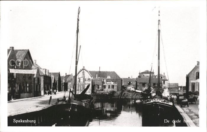 Spakenburg De oude haven Kat. Bunschoten Spakenburg