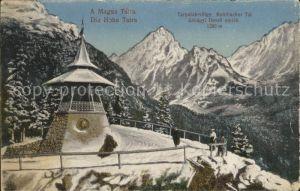 Hohe Tatra Panorama Kohlbacher Tal Kat. Slowakische Republik