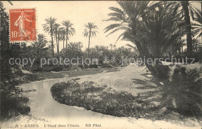 Gabes Oued dans Oasis Kat. Tunesien