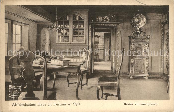 Keitum Sylt Altfriesisches Haus Bestes Zimmer Pesel Kat. Sylt Ost