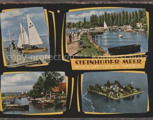 Steinhuder Meer Insel Wilhelmstein Segelboote Kat. Wunstorf