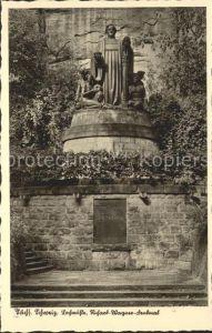 Lochmuehle Saechsische Schweiz Fremdenzimmer Pension im Liebetaler Grund Richard Wagner Denkmal / Lohmen Sachsen /Saechsische Schweiz-Osterzgebirge LKR