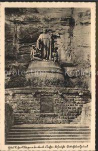 Lochmuehle Saechsische Schweiz Richard Wagner Denkmal im Liebetaler Grund / Lohmen Sachsen /Saechsische Schweiz-Osterzgebirge LKR