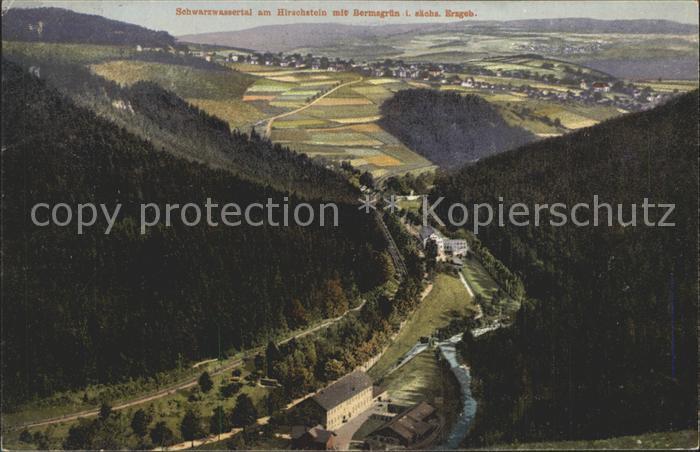 Schwarzwassertal Erzgebirge am Hirschstein Kat. Zoeblitz