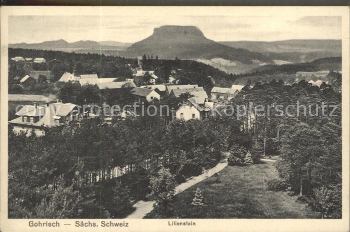 Gohrisch mit Lilienstein / Gohrisch /Saechsische Schweiz-Osterzgebirge LKR
