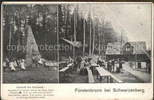 Fuerstenbrunn Schwarzenberg Denkmal Prinzenraub Koehlerhaus Gaststaette Historischer Ort Kat. Schwarzenberg