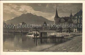 Luzern LU Quai Vierwaldstaettersee Pilatus Voralpen Kat. Luzern