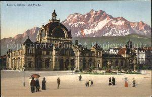 Luzern LU Bahnhof und Pilatus Kat. Luzern