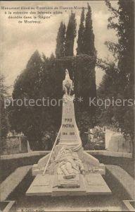 Clarens Montreux Monument eleve au Cimetiere / Montreux /Bz. Vevey