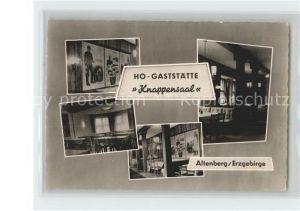 Altenberg Erzgebirge HO Gaststaette Knappensaal Kat. Geising
