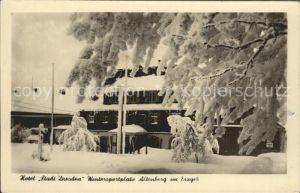 Altenberg Erzgebirge Hotel Stadt Dresden im Winter Kat. Geising