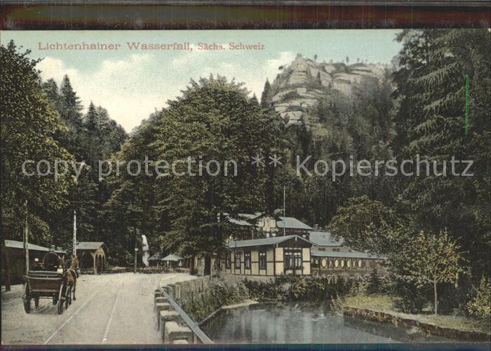 Lichtenhain Sebnitz Wasserfall Gasthaus Elbsandsteingebirge Kat. Sebnitz