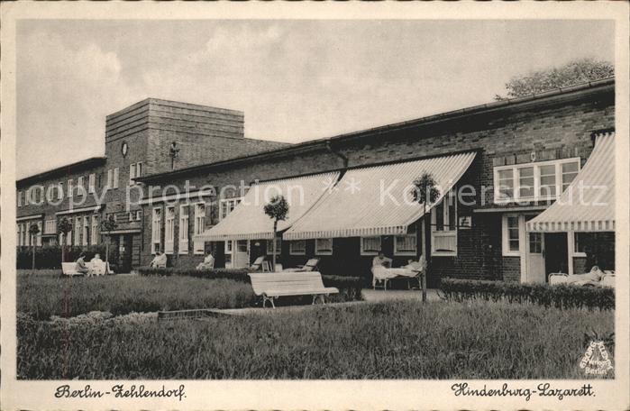 Zehlendorf Berlin Hindenburg-Lazarett / Berlin /Berlin Stadtkreis