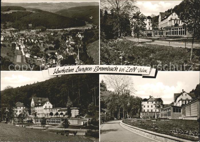 Langen Brombach Panorama Kurheim Kat. Brombachtal