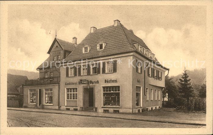 Stuttgart Cafe Conditorei W. Wyrich Kat. Stuttgart